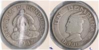 HONDURAS LEMPIRA 1937 PLATA SILVER S - Honduras