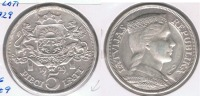 LETONIA 5 LATI 1929 PLATA SILVER S - Letonia