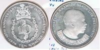 MALAWI 10 KWACHA 1964 PLATA SILVER S - Malawi