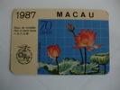 CTT Macau Macao Nelumbo Nucifera Gaertn Pocket Calendar 1987 - Small : 1981-90