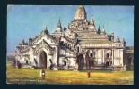 BURMA  -  Ananda Pagoda  Pagan  Used Vintage Postcard As Scans - Myanmar (Burma)