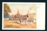 BURMA  -  Worshippers At Pagan  Unused Vintage Postcard As Scan - Myanmar (Burma)