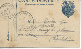 """45 Montargis FM""""service Militaire De La Gare / Place De Montargis"""" > Massiac - Postmark Collection (Covers)"""