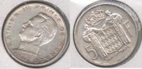 MONACO 5 FRANCS 1960 PLATA SILVER S - Mónaco