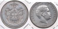 PORTUGAL 1000 REIS  1899 PLATA SILVER S - Portugal