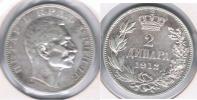 SERBIA 2 DINAR 1912 PLATA SILVER S - Serbia