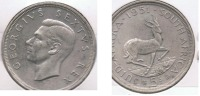 SUDAFRICA 5 SCHILLING 1951 PLATA SILVER S - Sudáfrica