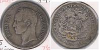 VENEZUELA BOLIVAR 1936 PLATA SILVER S - Venezuela