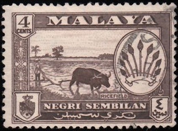 MALAYA Negri Sembilan - Scott #66 Coat Of Arms & Views Of Country (*) / Used Stamp - Negri Sembilan