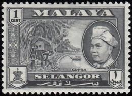 MALAYA Selangor - Scott #102 Sultan Hisamuddin Alam Shah / Mint NH Stamp - Selangor