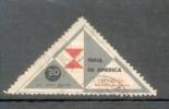 VIÑETA LABEL CINDERELLA FERIA DE AMERICA MENDOZA ARGENTINA AÑO 1954 CON OBLITERACION POSTAL RARISIME - Fantasie Vignetten
