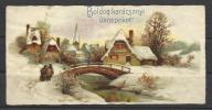 Hungary, Christmas Card, Landscape With A Bridge, '30s. - Xmas