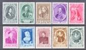 BELGIUM   B  293-302     * - Unused Stamps