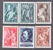 BELGIUM   B   370-5  *   PAINTINGS VAN DYCK - Unused Stamps