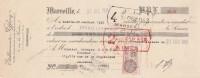 Lettre Change 31/12/1931 Ets JEFFERY MARSEILLE Pour Bessèges Gard - Lettres De Change