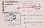 Prisoner Of War  From French POW In M-Stammlager IV A In Hohnstein (Sächs. Schweiz) P/m 16.1.1943  (G75-76) - Militaria