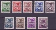 ** 1942 MONTENEGRO Soprastampati Overprint 40/48 MNH - Montenegro