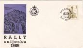 YUGOSLAVIA JUGOSLAVIJA  1966 JAJCE  RALLY  SUTJESKA  AUTO  MOTO  RELI  AUTO RACE - 1945-1992 République Fédérative Populaire De Yougoslavie