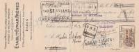 Lettre Change 15/8/1928 EYMAR Tissage Mèches De Lampes Briquets Rue D'Angoulême PARIS Pour Gourdon Lot - Lettres De Change