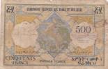 BILLET DE DJIBOUTI DES AFARS ET ISSAS DE 500 FRANCS  1952 REF OT191015 - Djibouti
