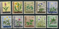 Iceland - Mixed Lot With 10 Stamps (all FLOWERS) - Collections, Lots & Séries