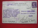 """76 - ROUEN - CARTE COMMERCIALE - """" ECONOMIQUE ROUENNAIS """" - ECRITE A LA MACHINE - 1928 - - Rouen"""