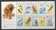 South Africa 1991 Birds / Migratory Species 10v In Sheetlet ** Mnh (25642C) - Blocs-feuillets