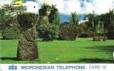 NORTHERN MARIANA ISLANDS 10 U LATTE STONES LANDSCAPE NMN-MM-04 ISSUED 1991 TAMURA READ DESCRIPTION !! - Northern Mariana Islands