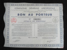 Bon Au  Porteur Compagnie Générale Aéropostale Siege Paris 6/04/1935 - Hist. Wertpapiere - Nonvaleurs
