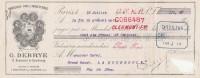 Lettre Change 16/7/1908 DEBRYE Brosserie Tabletterie Bd De Strasbourg Paris Pour La Bourboule - Trou Voir Scan - Lettres De Change