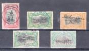 CONGO BELGE : 5 EX . OBLITÉRATIONS DIVERSES . 1910/20 . - Belgisch-Kongo