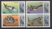 Germany Berlin 1977 Aquarium Dinosaurs Tortoise Turtles Fishes Rhinocero Animals Stamps MNH SC 9N411-N414 Michel 552-555 - Fische