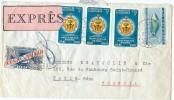 LBL33D3- COLOMBIE LETTRE AVION EXPRES POUR PARIS 23/5/1961 - Colombia