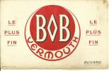 BUVARD PUBLICITE VERMOUTH BOB ALCOOLS BOISSON APERITIF - Liqueur & Bière