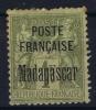MADAGASCAR Yv Nr 21 MH/*, Avec  Charnière , Mit Falz, Damaged At Top And Fold - Madagascar (1889-1960)