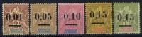 MADAGASCAR Yv Nr 51 I - 55 I MH/*, Avec  Charnière , Mit Falz, Signe - Madagascar (1889-1960)