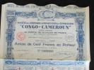 Action 100 Francs Societe Des Comptoirs D´Importation & D´Exportation Congo-Cameroun Siege Social à Paris - Afrique