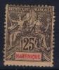 Martinique   Yv Nr 38 MH/*, Avec  Charnière , Mit Falz, - Martinique (1886-1947)