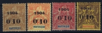 Martinique   Yv Nr 54 - 57 MH/*, Avec  Charnière , Mit Falz, - Martinique (1886-1947)