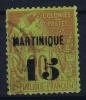 Martinique   Yv Nr 5  Used Obl - Martinique (1886-1947)