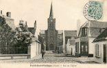 CPA - PETIT-FORT-PHILIPPE (59) - Aspect De La Rue De L'Eglise Et De L'Estaminet De La Jeune France En 1907 - Autres Communes