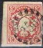 Sello 3 K Bayern, Mühlradstempel  Gmr 356, NURNBERG, Num  16 º - Bavière