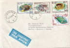 Postal History Cover: Belgium Ifishes Set On Cover - Poissons