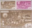 Monaco 1973 Y&T 945. Paire, Essais De Couleurs. Procession Du Christ Mort, Reproduction Du Suaire De Turin. Torches Feu - Cristianesimo