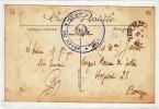 COMMISSAIRE MILITAIRE DE LA GARE DU HAVRE - TAMPON MILITAIRE - LE HAVRE POUR BOURGES - SUR CPA - Marcophilie (Lettres)
