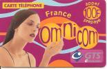 CARTE-PREPAYEE-OMNICOM-GTS-100F-FEMME-FRANCE-28/05/2002-GRATTE-TBE - Autres Prépayées