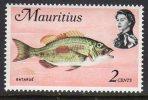 Mauritius 1969 Fish Marine Life Definitives 2c Value, MNH (A) - Maurice (1968-...)