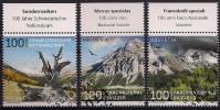 2014  Schweiz Mi. 2331-3  Used    100 Jahre Schweizerischer Nationalpark. - Usados