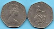 GREAT BRITAIN / GRANDE BRETAGNE  50 NEW  PENCE 1969 KM#913 - 1971-… : Monnaies Décimales