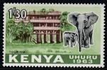 Kenya 1963 Definitive: Tourism, African Elephant. Mi 10 MNH - Kenya (1963-...)